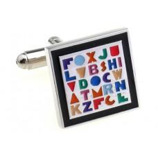 Manchetknoop - Kunst met letters