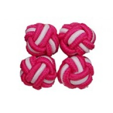 Bachelor Knots - Fuchsia/Wit