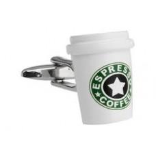 Manchetknoop - Espresso Beker