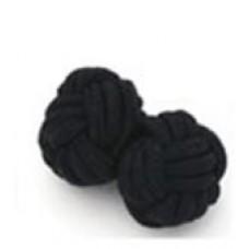 Bachelor knots manchetknopen - zwart